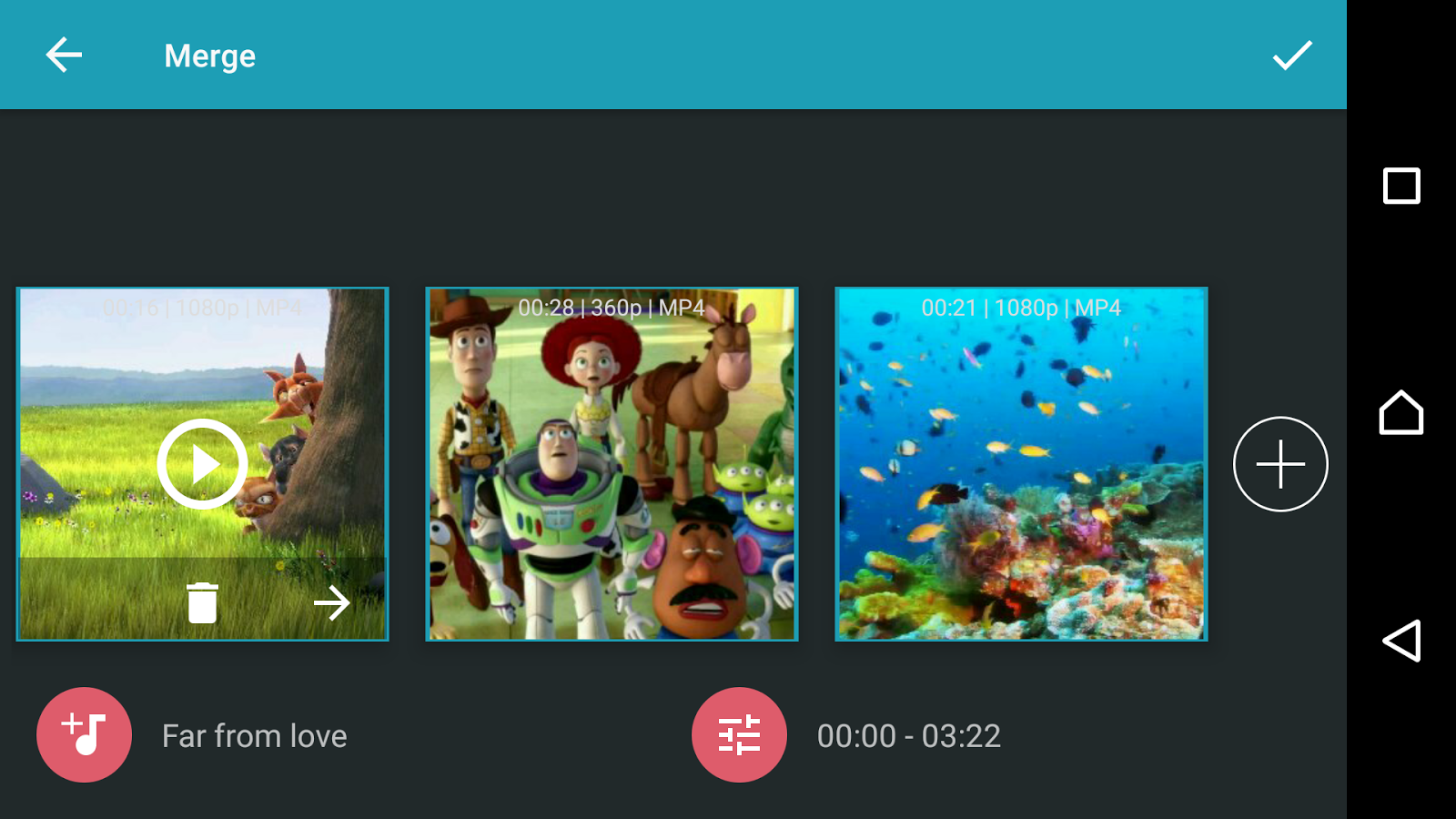 AndroVid Pro Video Editor Screenshot 3