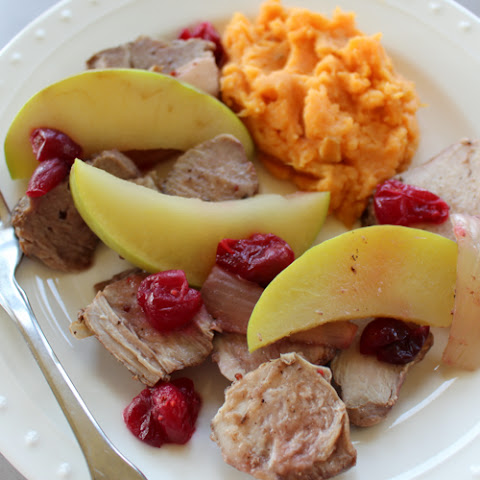 Crock Pot Boneless Pork Ribs with Cranberries and Apples