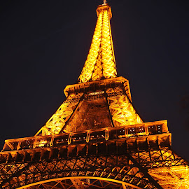 Eiffel point of view by Grant Goeieman - Buildings & Architecture Statues & Monuments ( colour, love, paris, eiffel tower, europe, night photography, romantic, eiffel, travel, view, travel photography )