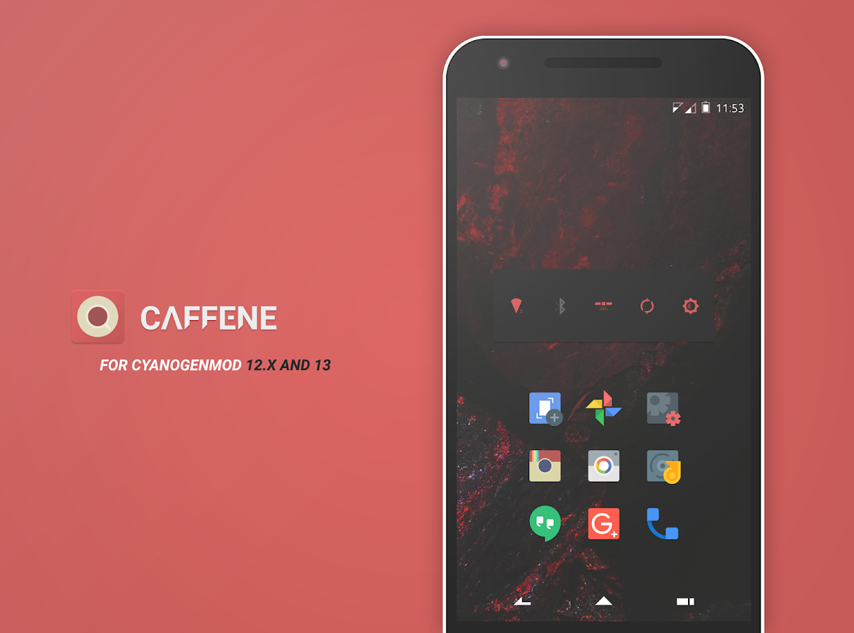 Caffene - CM13/CM12 Theme Screenshot