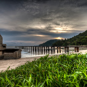 sungai tiram by P Hin Cheah - Landscapes Sunsets & Sunrises ( batu maung, sunset, penang, beach, sungai tiram )