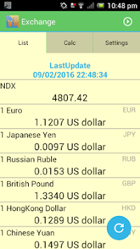 Exchange - Currency List APK screenshot thumbnail 1