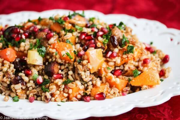 Roasted Butternut Squash Carrot Barley Farro Sorghum Quinoa Salad ...