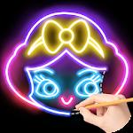 Draw Glow Princess For PC / Windows / MAC