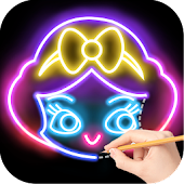Download Draw Glow Princess APK on PC
