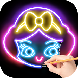 Draw Glow Princess For PC (Windows / Mac)
