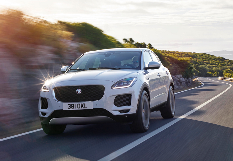 The E-Pace adopts some styling cues from the F-Type sports car