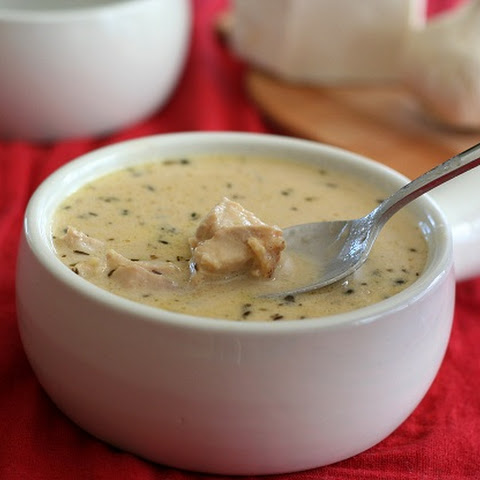 Roasted Garlic Chicken Soup