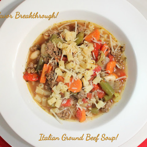 Italian Ground Beef Soup!