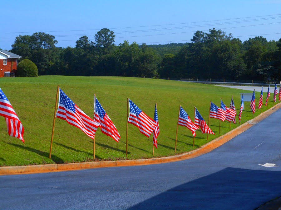 Show your Patriotism by David Jarrard - Public Holidays July 4th ( flying the flag, flags, belmont beptist, georgia patriotism, conyers,  )