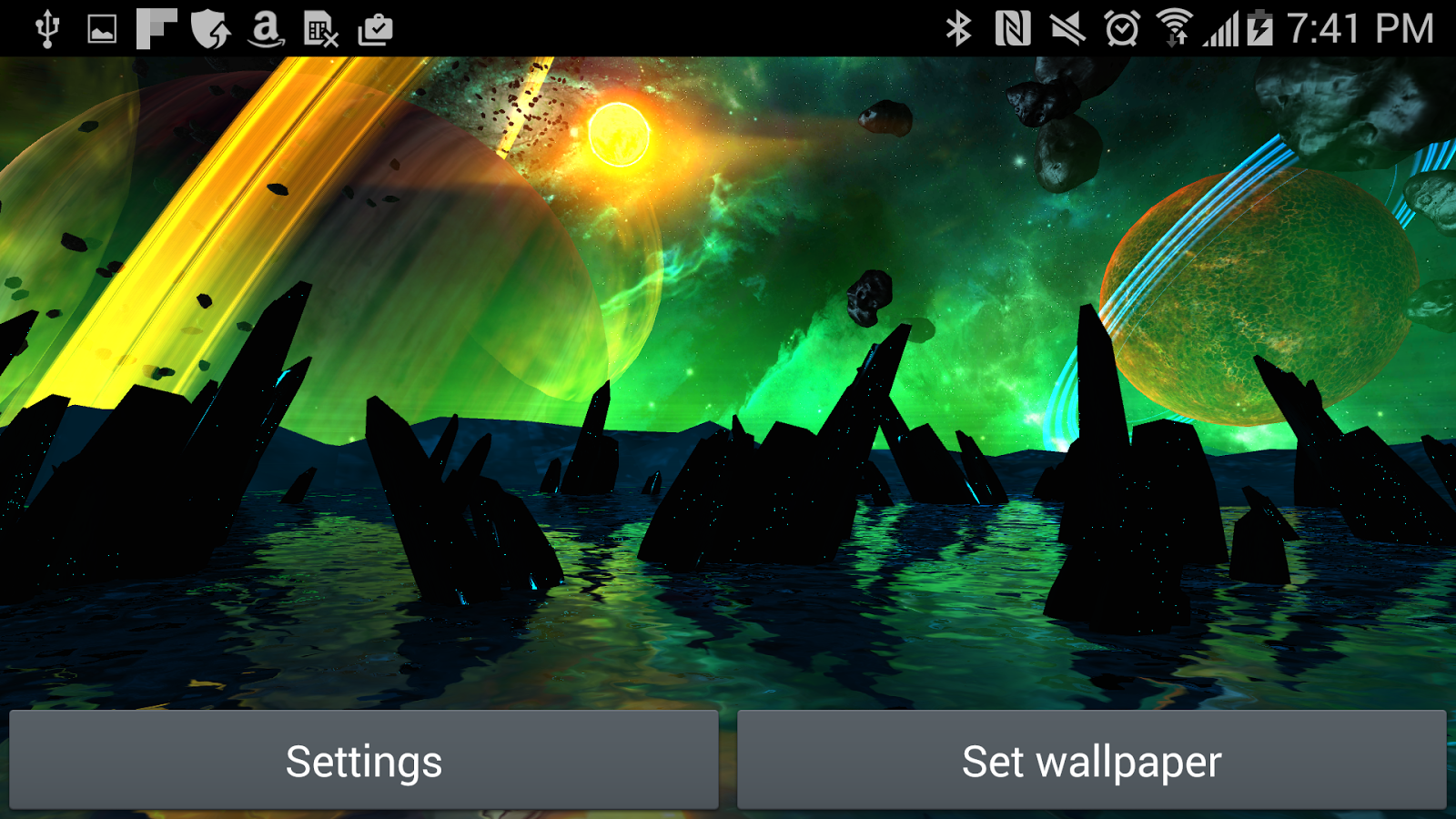 Far Galaxy 3D Live Wallpaper Screenshot 12
