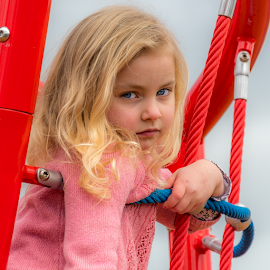 by Keith Sutherland - Babies & Children Children Candids ( playground, blonde, girl, portrait )