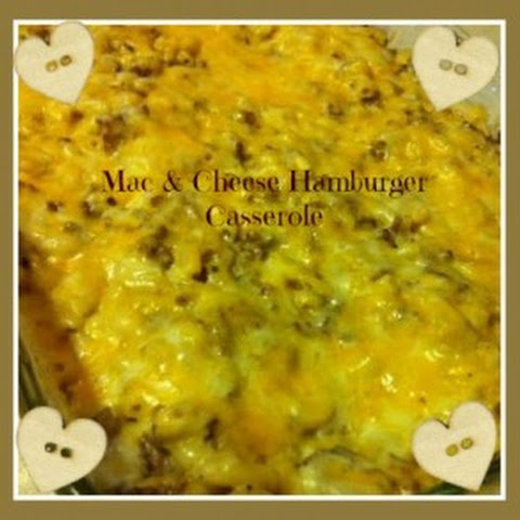 Mac & Cheese Hamburger Casserole