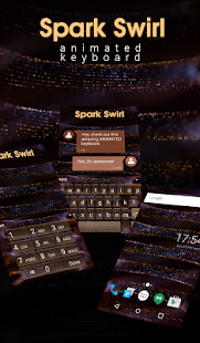 Spark Swirl Animated Keyboard - screenshot