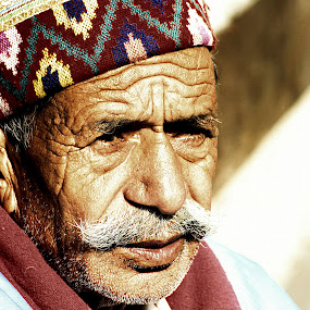 An Old Man's Portrait by Pinaki Pradhan - People Portraits of Men (  )