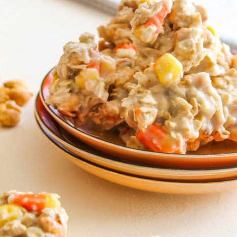No Bake Peanuts & Candy Corn Cookies