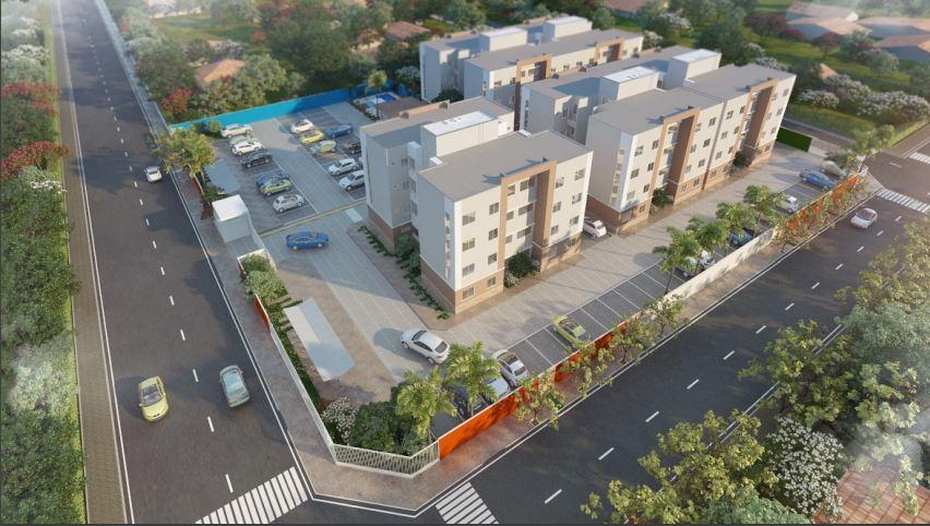 Apartamento à venda em Caucaia. Com 57m2, 3 quartos. Financia.