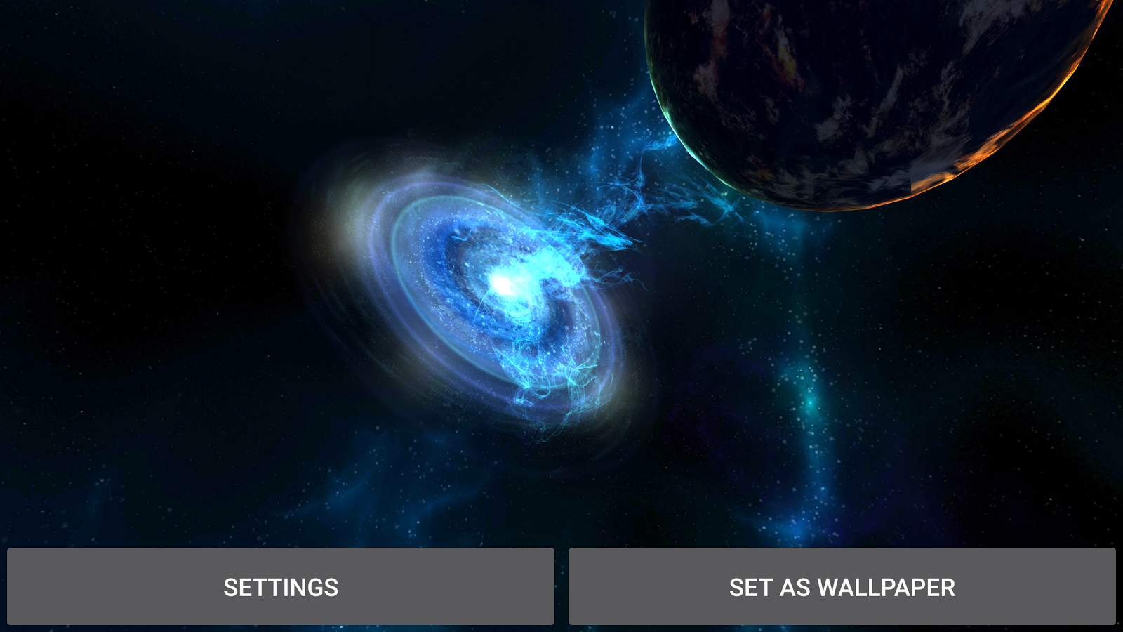 3D Galaxies Exploration LWP Screenshot 18