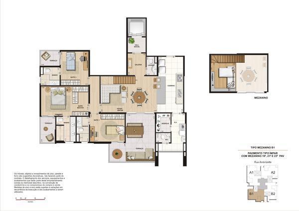 Planta 156 m² Unidades 193 e 233