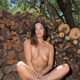 Got Wood? by Kens Yeaglin - Nudes & Boudoir Artistic Nude ( nikiidarling, outdoors, wood, nude, logs )