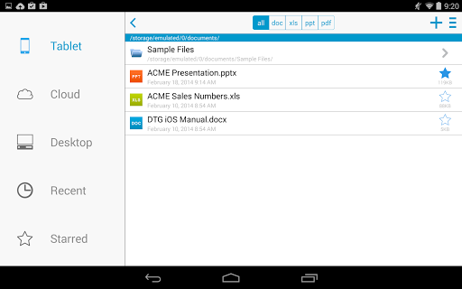 Docs To Go™ Free Office Suite screenshot 15