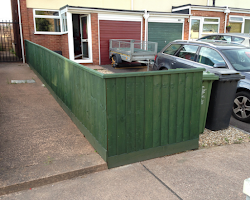 small fence build for private home in exeter, devon