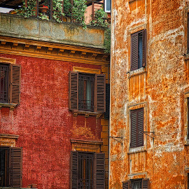 Rome Houses by Jim Antonicello - Buildings & Architecture Homes ( rome, buildings, italy )