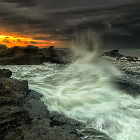 Stormy Day by Agoes Antara - Landscapes Weather ( waterscape, wave, weather, cloud, pwcstorm, landscape )