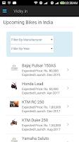 Screenshot of Vicky.in Car and Bike App