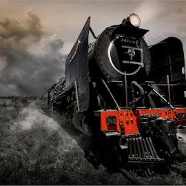 Early morning shunt  by Douglas Photos - Transportation Trains ( railway, steam train, locomotive, reef steamers, trains )