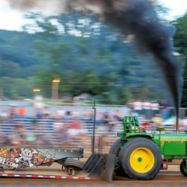 Fast John Deere by Dave Dabour - Transportation Other ( warren county farmers fair, wednesday, john deere, 2015, tractor pull )