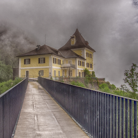 The Clouds HHouse by Nitescu Gabriel - Buildings & Architecture Other Exteriors ( clouds, natural light, europe, beautiful, hallstatt, house, european, nature, tree, australia, trees, bridge, natural )
