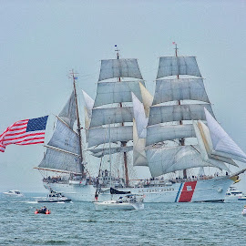 The Eagle by Gwen Paton - Transportation Boats ( water, connecticut, tall ships, ship, ct )
