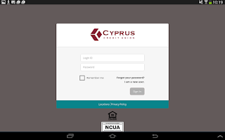 Screenshot of Cyprus CU Mobile Banking