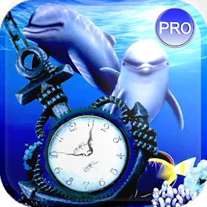 Clock Aquarium Live Wallpaper