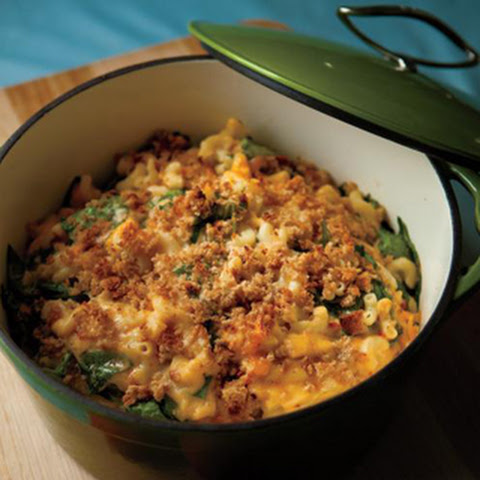 Spinach and Sun-Dried Tomato Macaroni and Cheese