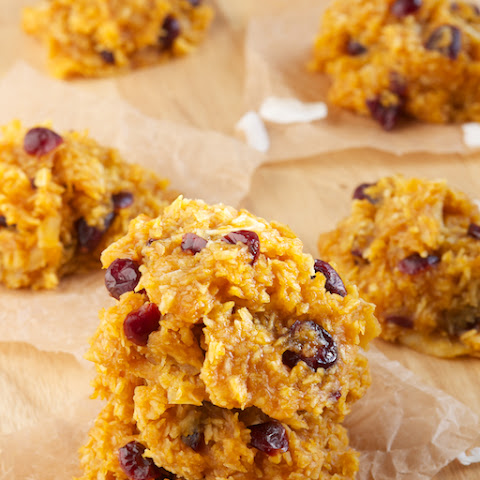 Pumpkin Spice Cranberry No-Bake Cookie