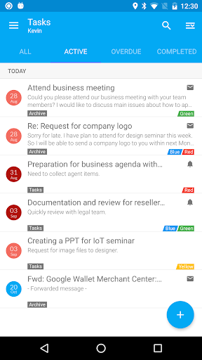 Nine - Exchange on Mobile - screenshot