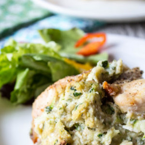 Zucchini and Ricotta Stuffed Chicken Breasts