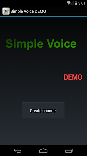 SimpleVoice Demo - screenshot