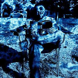 Book reading  by Mark Sarden - Digital Art People ( chair, digital art, book reading, digital )