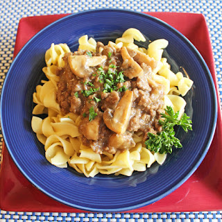 Lightened Up Beef Stroganoff