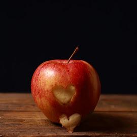 apple heart by Mona Martinsen - Food & Drink Fruits & Vegetables