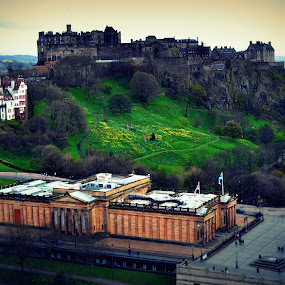 Edinburgh Castle by Sannit Hazra - Novices Only Landscapes ( edinburgh, visiting edinburgh, edinburgh castle, castles of uk )