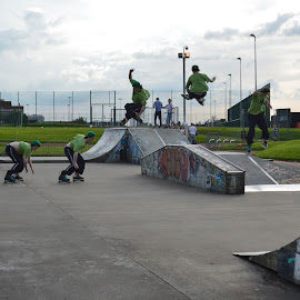 by Andrew Percival - Sports & Fitness Other Sports ( skate, park, skater, layers, sports, fast, multiple )