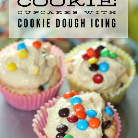 Cookie Cupcakes With Cookie Dough Icing