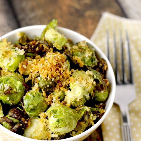 Roasted Parmesan and Panko Brussels Sprouts