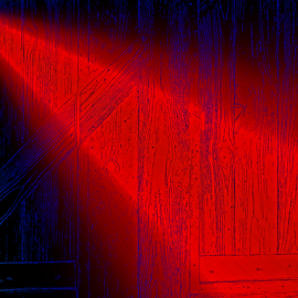 red light by Edward Gold - Digital Art Things ( lumber background, blue, shining, contrast, black, red light, shining light,  )