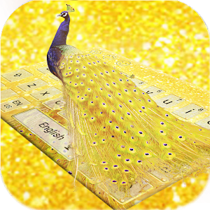 Download Peacock gold luxury keyboard For PC Windows and Mac