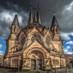 Ringkirche by Ole Steffensen - Buildings & Architecture Places of Worship ( city scene, church, ringkirche, buildings, wiesbaden, germany,  )